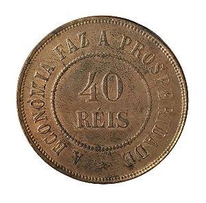 Moeda Antiga do Brasil 40 Réis 1909