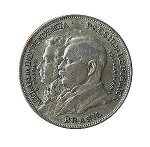 Moeda Antiga do Brasil 2000 Réis 1922 - 1º Centenário da Independência