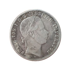 Moeda Antiga da Áustria 1 Florin 1859