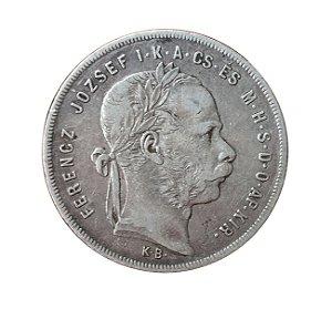 Moeda Antiga da Áustria 1 Florin 1878