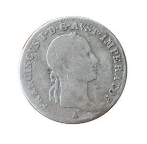 Moeda Antiga da Áustria 5 Kreuzer 1833