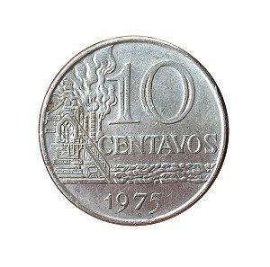 Moeda Antiga do Brasil 10 Centavos de Cruzeiro 1975