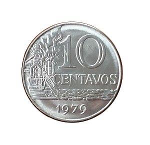 Moeda Antiga do Brasil 10 Centavos de Cruzeiro 1979