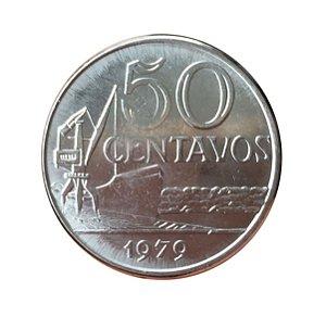 Moeda Antiga do Brasil 50 Centavos de Cruzeiro 1979