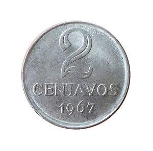 Moeda Antiga do Brasil 2 Centavos de Cruzeiro 1967