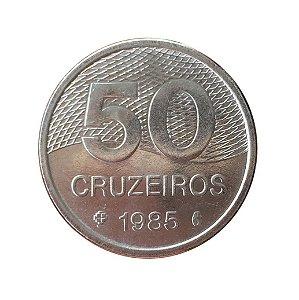 Moeda Antiga do Brasil 50 Cruzeiros 1985 - Plano Piloto de Brasília