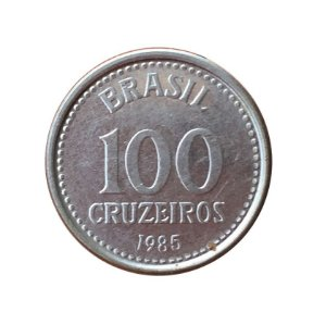 Moeda Antiga do Brasil 100 Cruzeiros 1985