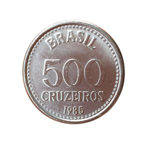 Moeda Antiga do Brasil 500 Cruzeiros 1985