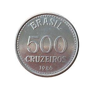 Moeda Antiga do Brasil 500 Cruzeiros 1986