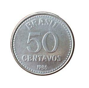 Moeda Antiga do Brasil 50 Centavos de Cruzado 1986