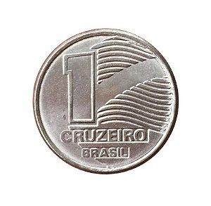 Moeda Antiga do Brasil 1 Cruzeiro 1990 - Bandeira