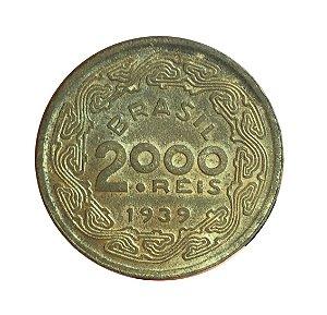 Moeda Antiga do Brasil 2000 Réis 1939 - Marechal Floriano Peixoto