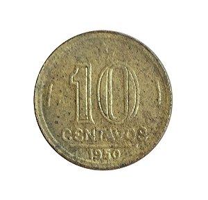 Moeda Antiga do Brasil 10 Centavos de Cruzeiro 1950 - José Bonifácio