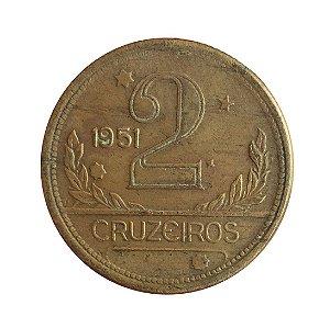 Moeda Antiga do Brasil 2 Cruzeiros 1951