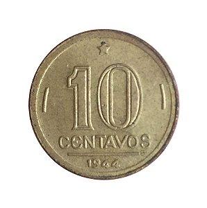 Moeda Antiga do Brasil 10 Centavos de Cruzeiro 1944 - Getúlio Vargas