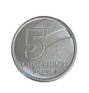 Moeda Antiga do Brasil 5 Cruzeiros 1990 - Salineiro