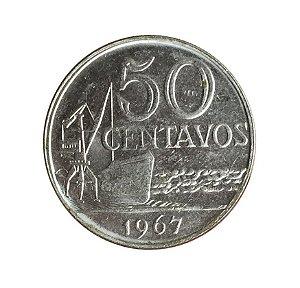 Moeda Antiga do Brasil 50 Centavos de Cruzeiro 1967