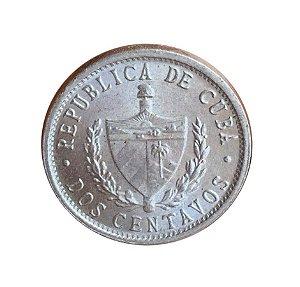 Moeda Antiga de Cuba 2 Centavos 1984
