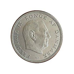Moeda Antiga da Dinamarca 5 Kroner 1971