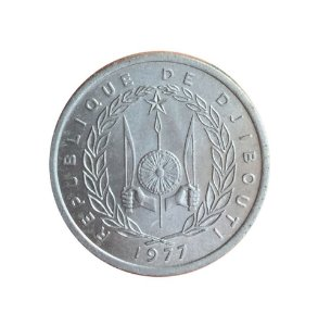 Moeda Antiga de Djibouti Franc 1977