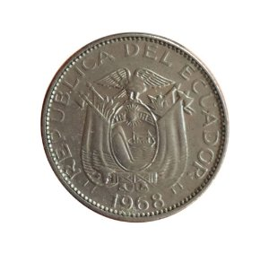 Moeda Antiga do Equador 10 Centavos 1968