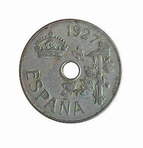 Moeda Antiga da Espanha 25 Centimos 1927