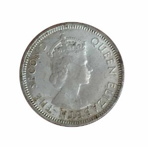 Moeda Antiga de Fiji Six Pence 1953