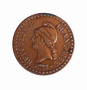 Moeda Antiga da França 1 Centime 1848 A