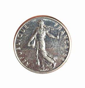 Moeda Antiga da França 1/2 Franc 1983