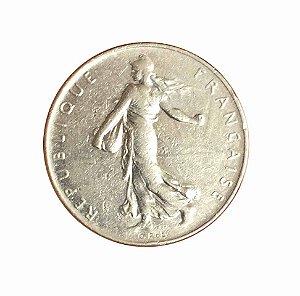 Moeda Antiga da França 1 Franc 1977