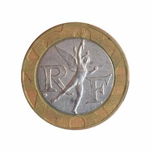 Moeda Antiga da França 10 Francs 1990
