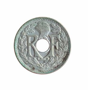 Moeda Antiga da França 5 Centimes 1938
