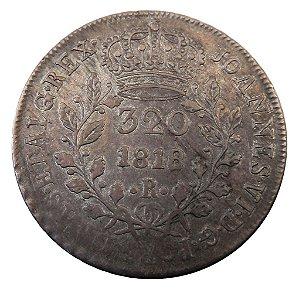 Moeda Antiga do Brasil 320 Réis 1818R