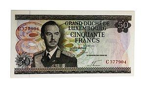 Cédula Antiga de Luxemburgo 50 Francs 1972