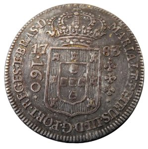 Moeda Antiga do Brasil 160 Réis 1783