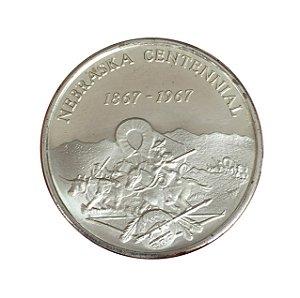Token Antigo dos Estados Unidos 1967 - 100º Aniversário de Nebrasca (1867-1967)
