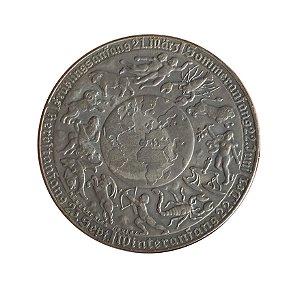 Medalha Antiga da Áustria 1939 - Calendário do Zodíaco