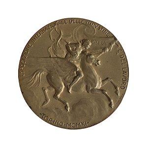 Medalha Antiga da Itália 1911 - Exposição Internacional de Indústrias e Trabalhos