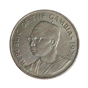Moeda Antiga de Gambia 50 Bututs 1971