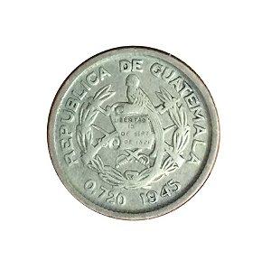 Moeda Antiga da Guatemala 5 Centavos 1945