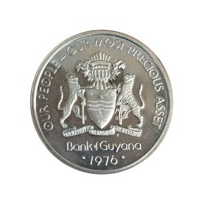 Moeda Antiga da Guiana 50 Cents 1976