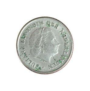 Moeda Antiga da Holanda 10 Cent 1951