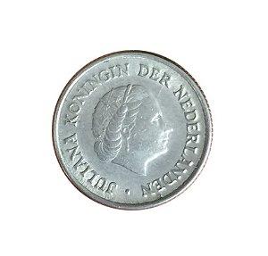 Moeda Antiga da Holanda 25 Cent 1951