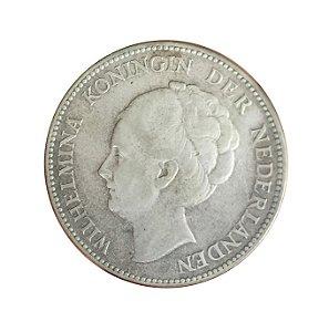 Moeda Antiga da Holanda 1 Gulden 1931