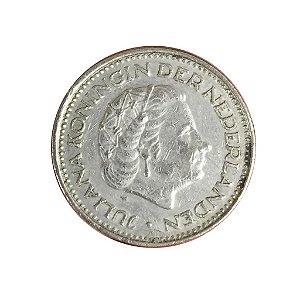 Moeda Antiga da Holanda 1 Gulden 1972