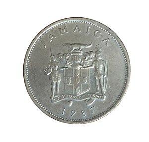 Moeda Antiga da Jamaica 20 Cents 1987