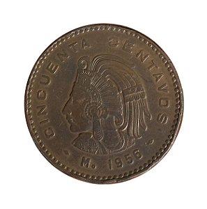 Moeda Antiga do México 50 Centavos 1956