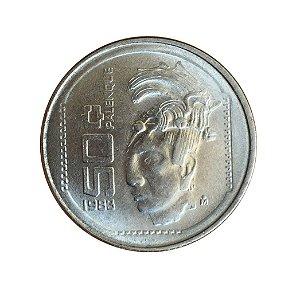 Moeda Antiga do México 50 Centavos 1983