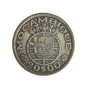 Moeda Antiga de Moçambique 20 Escudos 1960