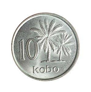 Moeda Antiga da Nigéria 10 Kobo 1989